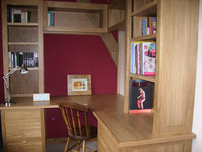A kentish traditional craftsman cabinet maker Built in study desk